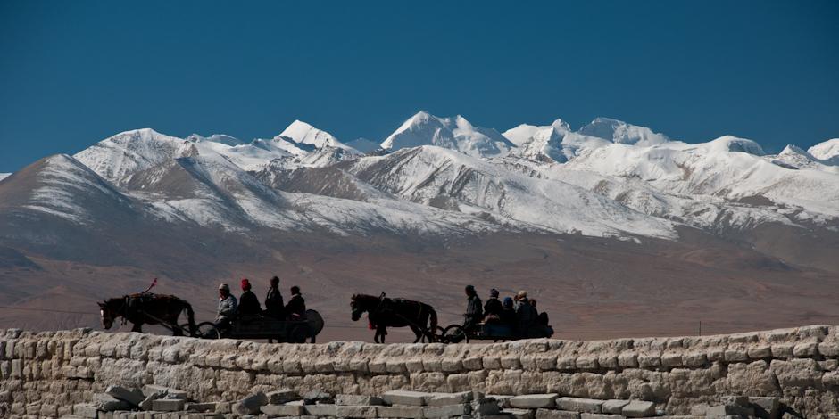 Góry dominują w tybetańskim krajobrazie.