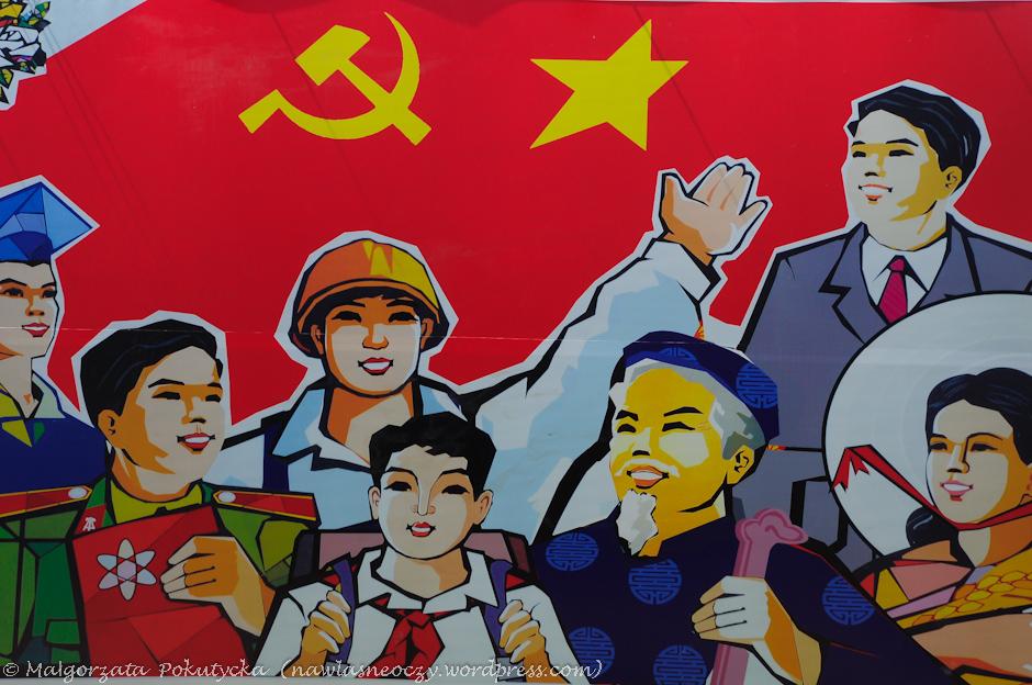 Plakat propagandowy w Wietnamie