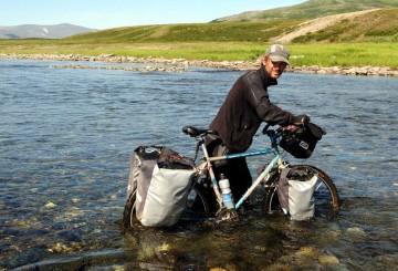 Dominik Szmajda w trakcie wyprawy na Ural