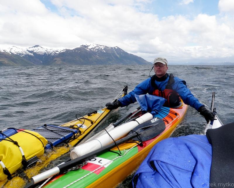 500 kilometrów kajakiem - etap triatlonu patagońskiego.