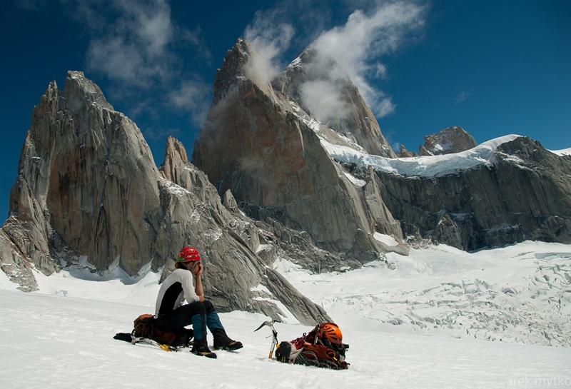 Narciarski etap triatlonu patagońskiego.