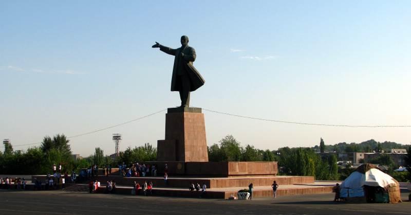 Pomnik Lenina w kirgiskim mieście Osz