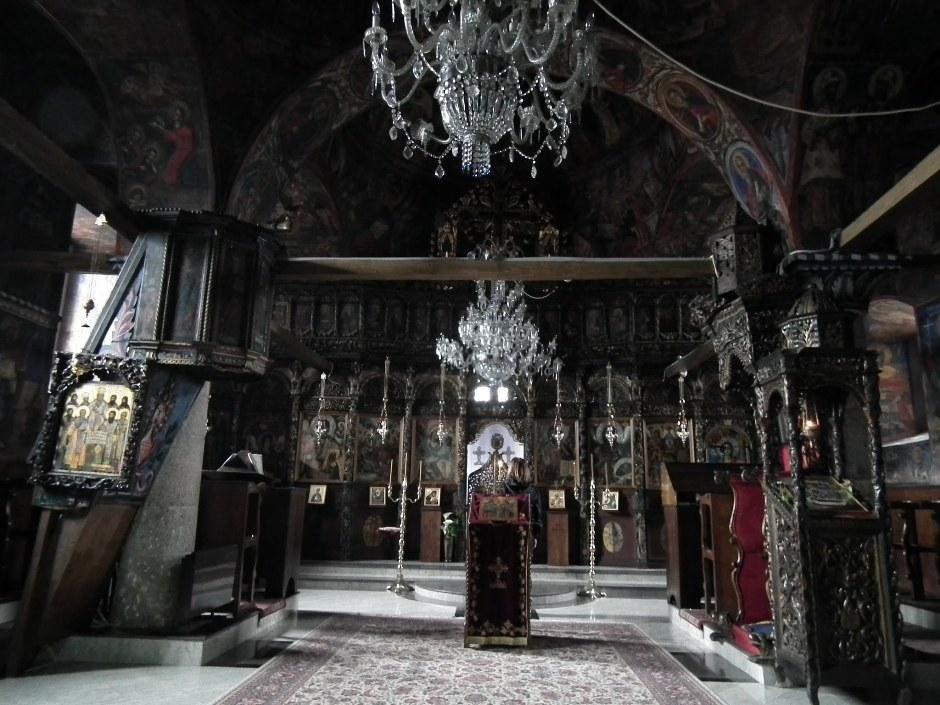Wnętrze cerkwi Bogurodzicy Maryi