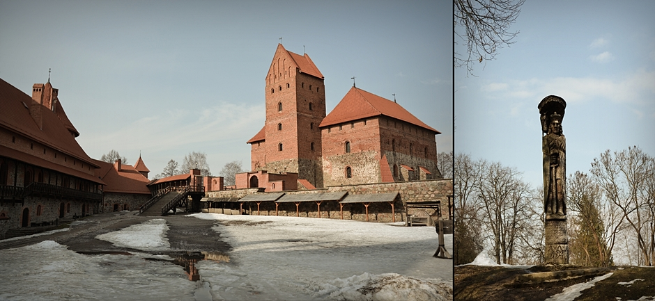 Zamek w Trokach na Litwie - foto