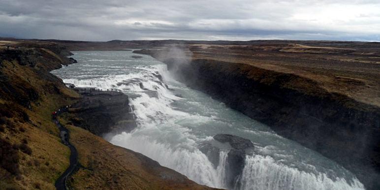 Zapierający dech w piersiach widok na Islandii