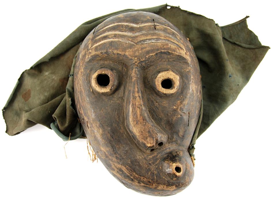 Afrykańska maska - twarz wojownika