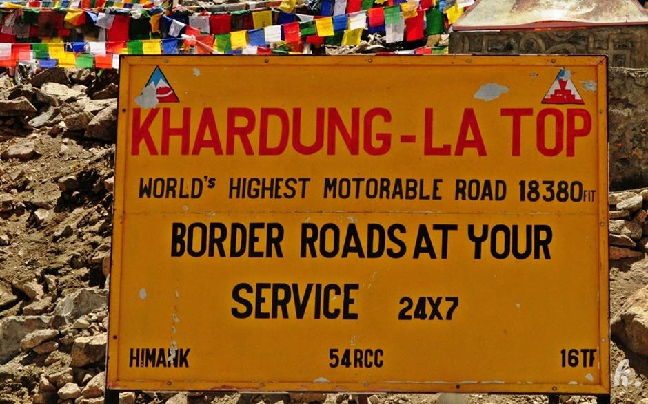 Podróż przez Indie. Przelecz Khardungla w Himalajach