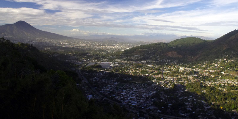 Widok na San Salvador - stolicę Salwadoru