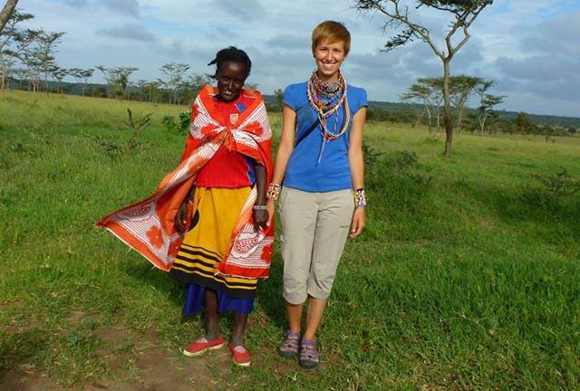 Magda Poros, która pomaga masajskim dzieciom