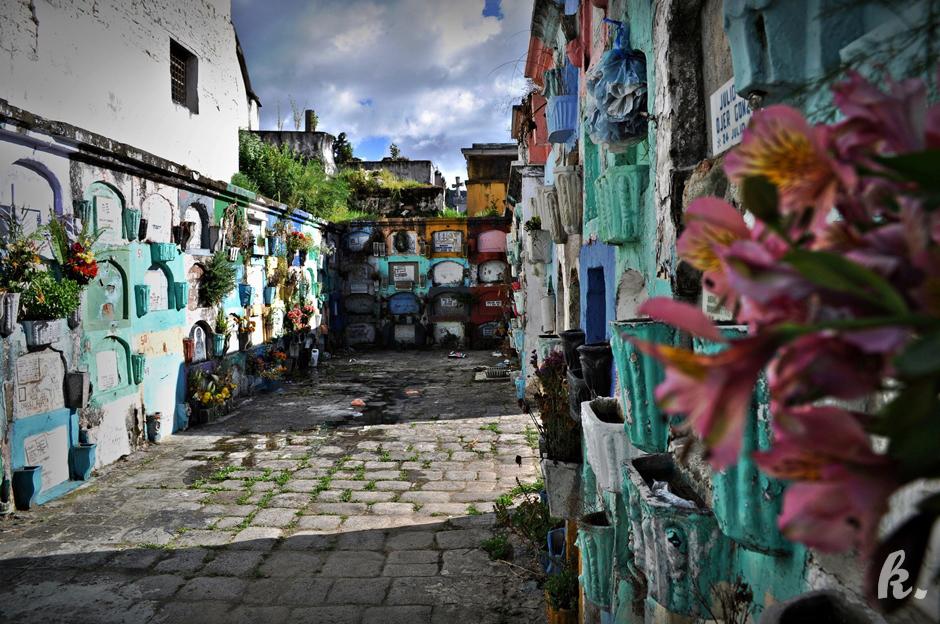 Cmentarz w Gwatemali - foto