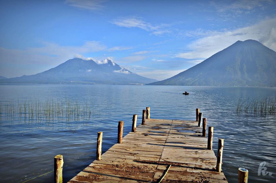 Zdjęcia z Gwatemali - wakacje nad jeziorem