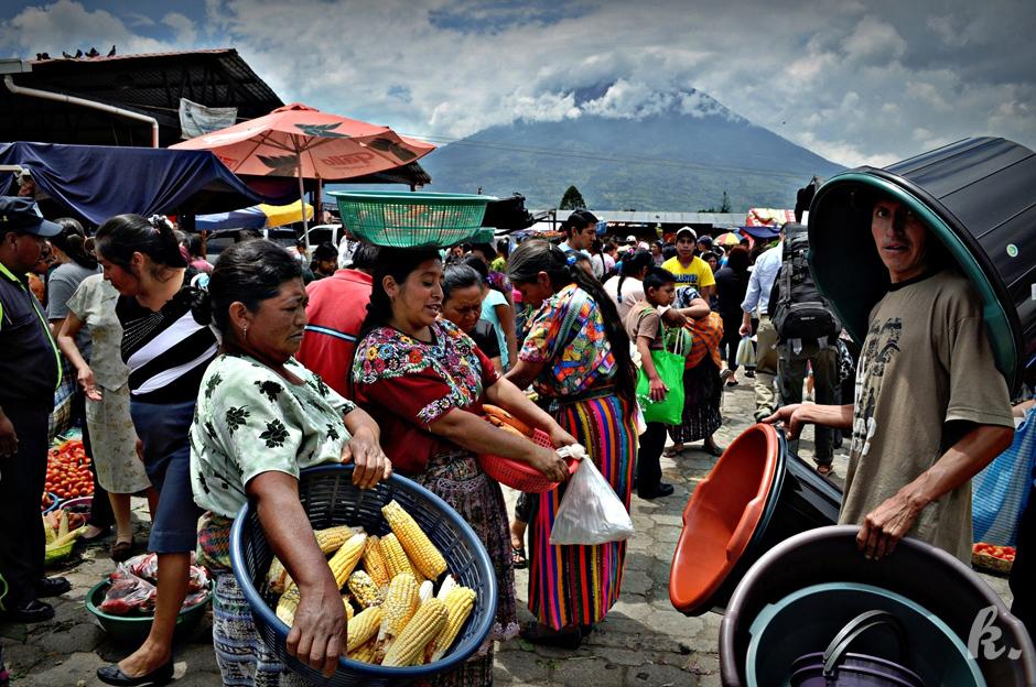 Targ w Gwatemali - zdjęcia z podróży po Ameryce Środkowej