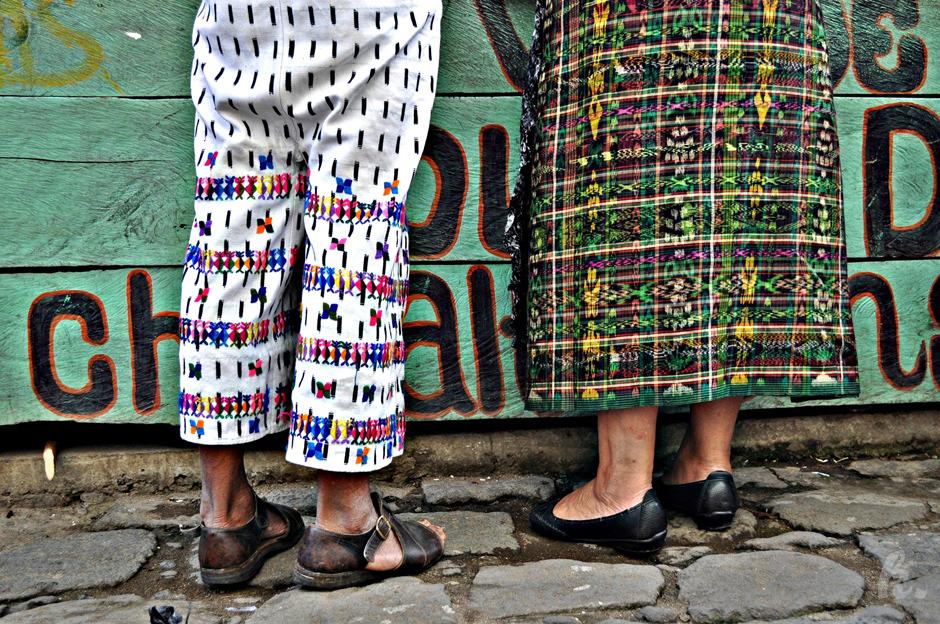 Tradycyjne stroje Majów z Gwatemali