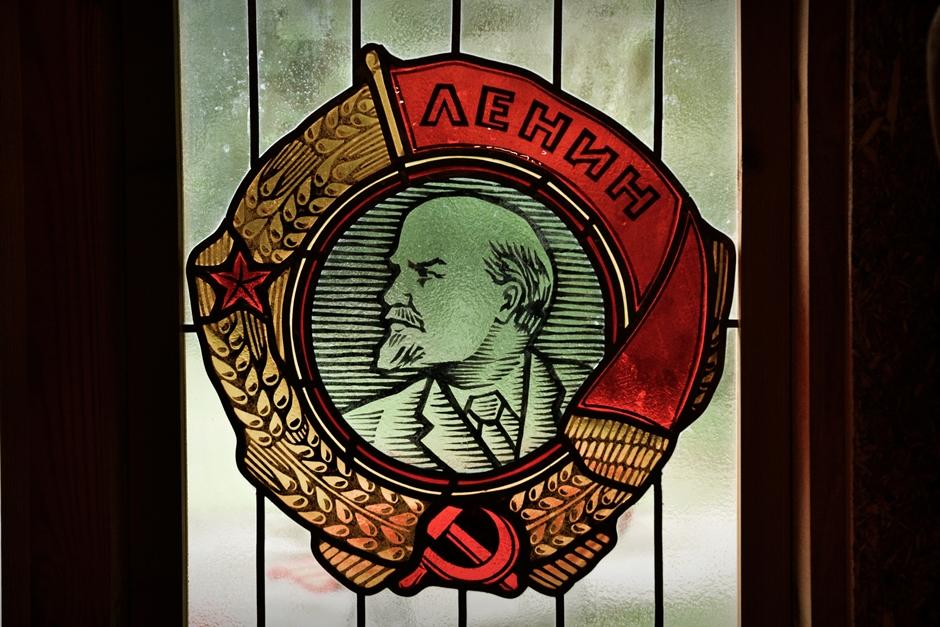 Włodzimierz Ilicz Lenin - witraż w muzeum komunizmu