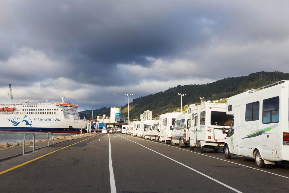 Nowa Zelandia - kampery turystów