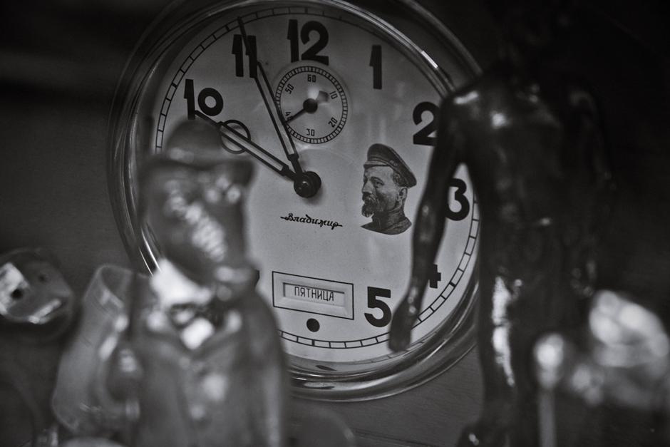 Zegar z podobizną Feliksa Dzierżyńskiego