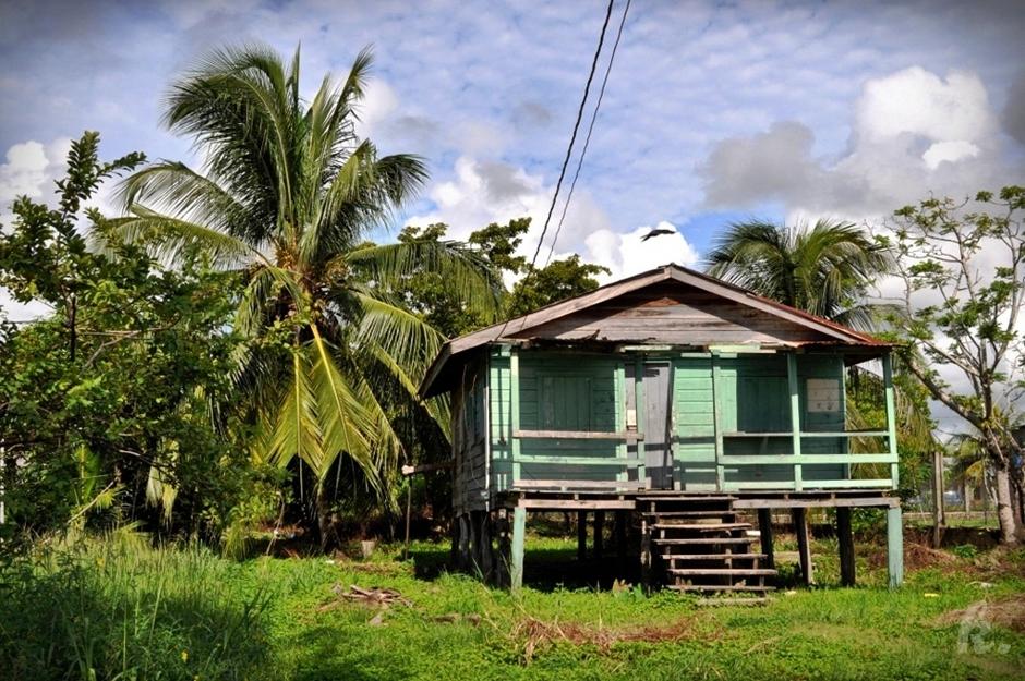 Opuszczony dom w Belize