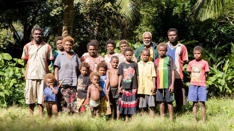 Mieszkańcy Fidżi, wyspa Caqalai.