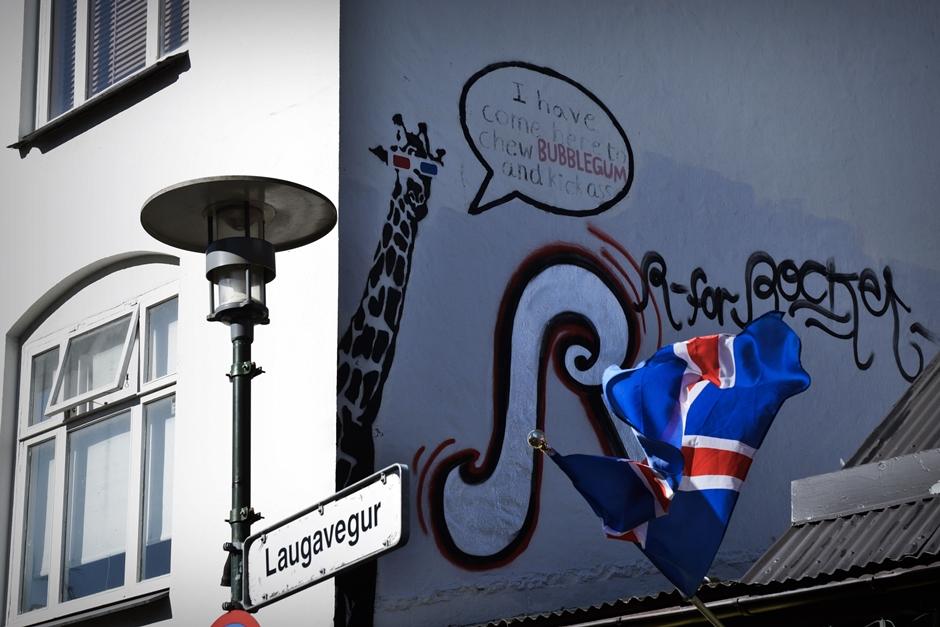 Sztuka uliczna w stolicy Islandii. Zdjęcia z podróży