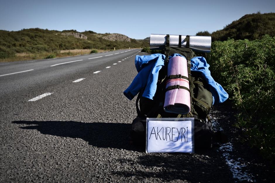 Autostop na Islandii - foto