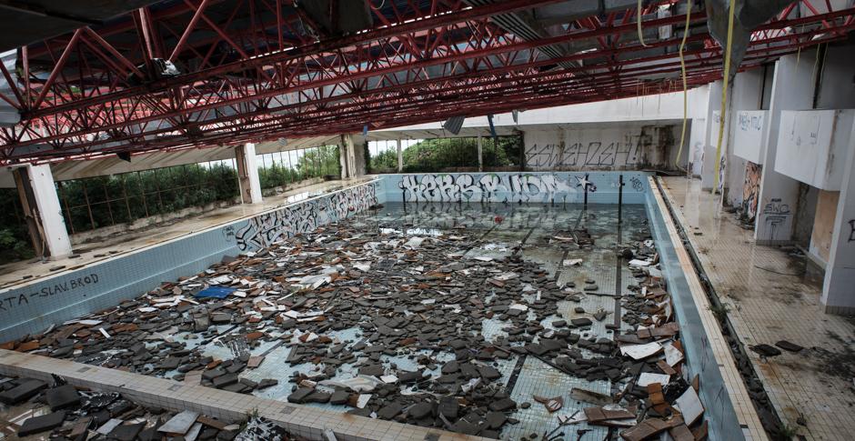Wczasy w Chrowacji - basen w hotelu