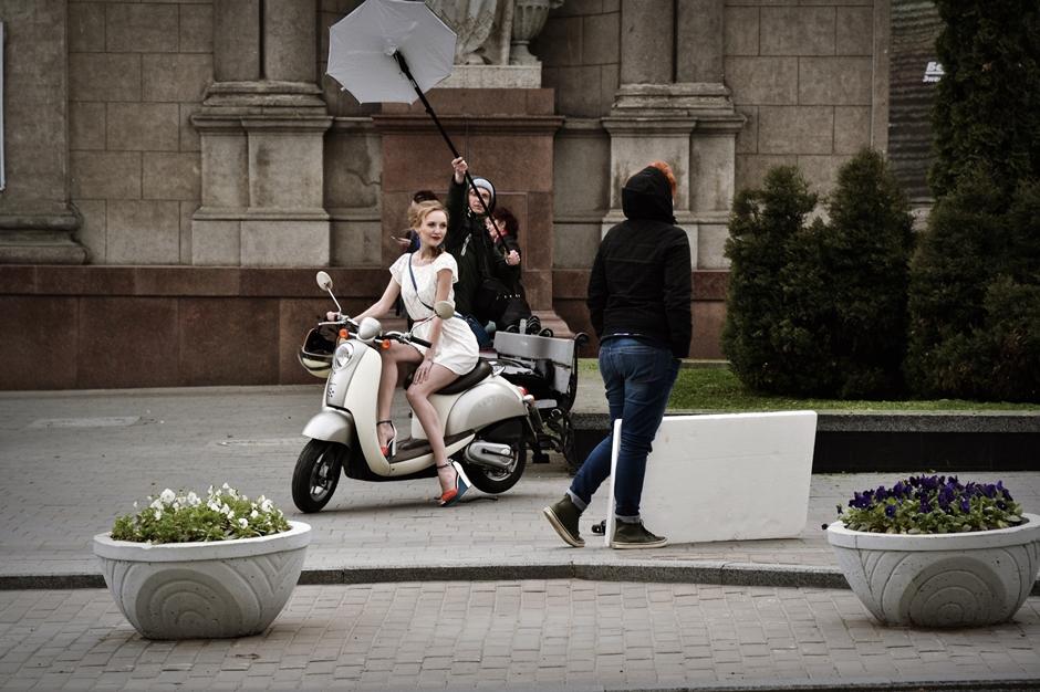 Sesja reklamowa w Mińsku