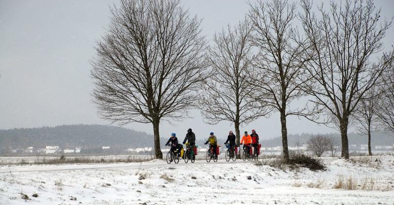 Rowerowe Jamboree - zima na Ukrainie