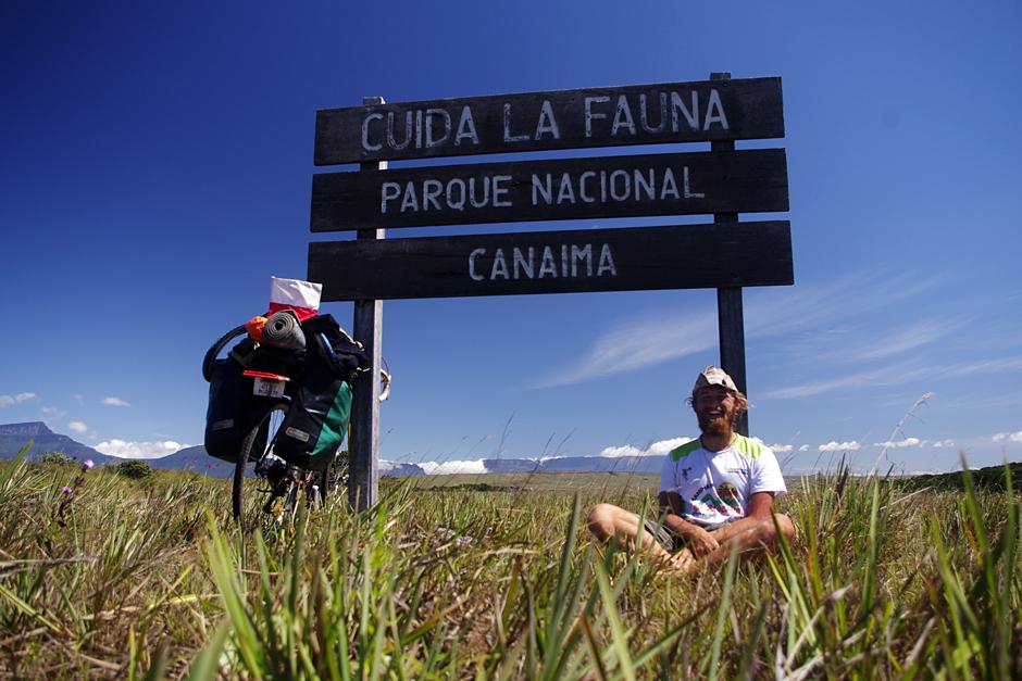 Park Canaima w Wenezueli rowerem