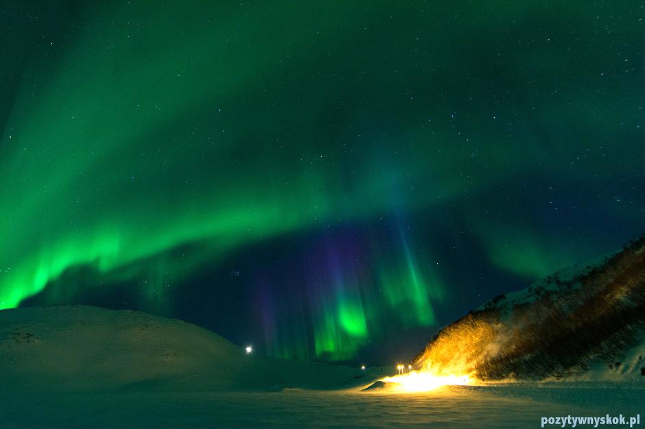 Fotografie zorzy polarnej