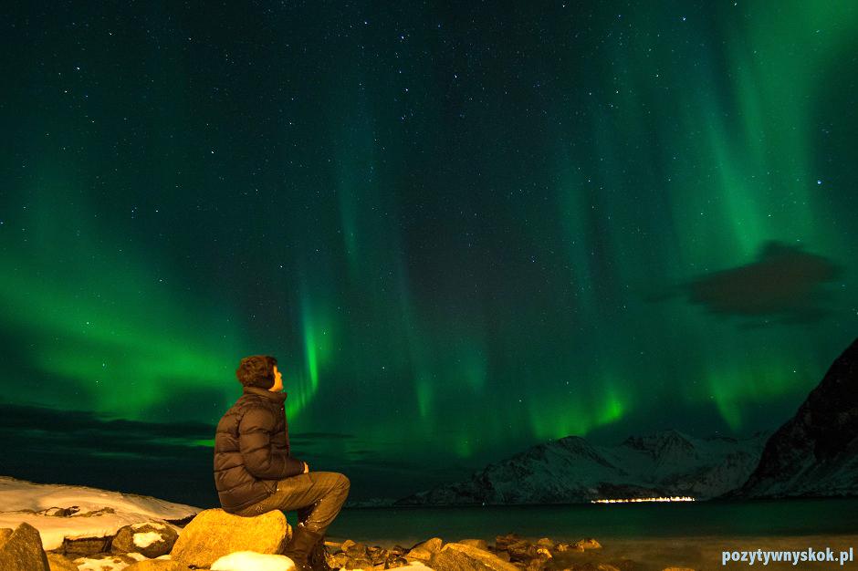 Widok na zorzę polarną - zdjęcia z Norwegii