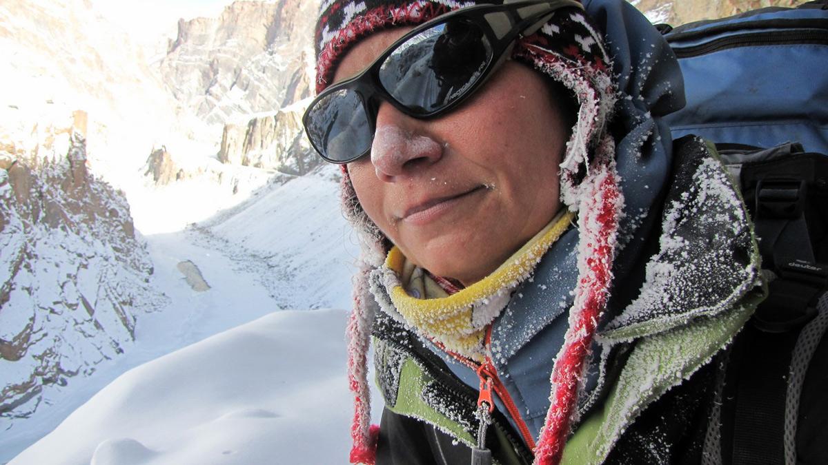 Asia podczas przejścia Zanskaru w Himalajach Indyjskich.