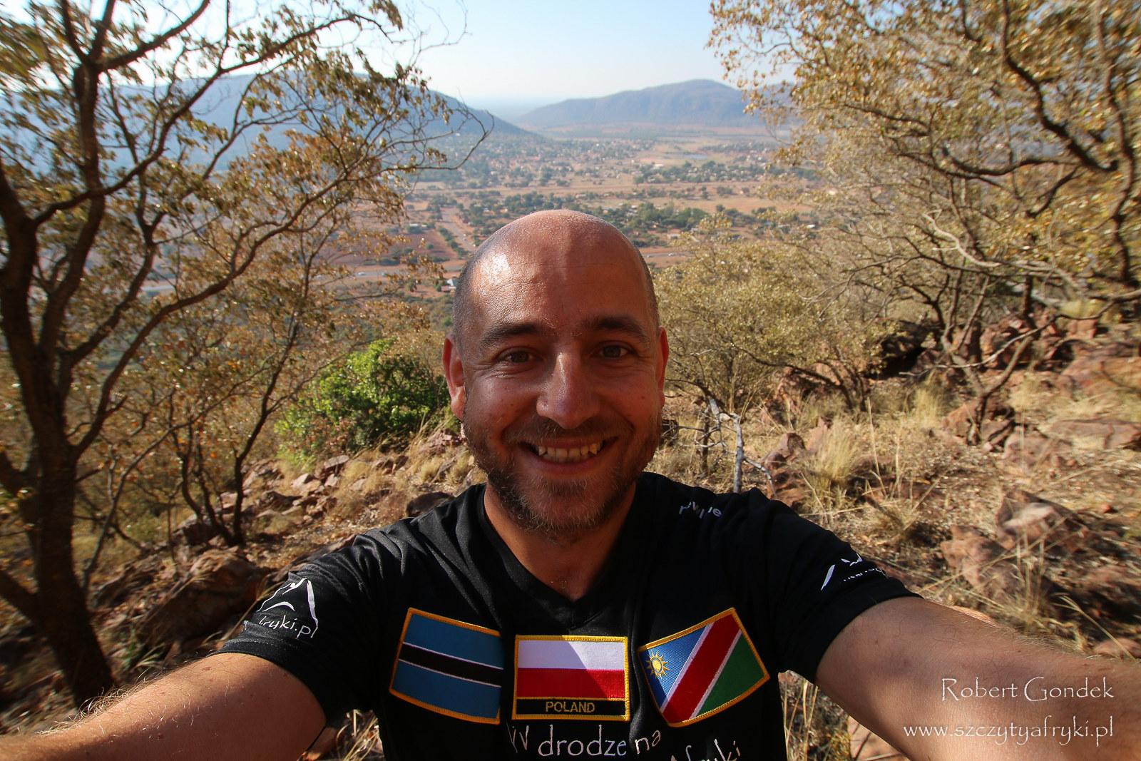 Robert Gondek w Botswanie w drodze na kolejny szczyt Afryki