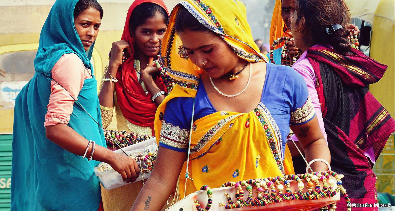 Kobiety w sari. Indie, Foto - Sebastian Placzek